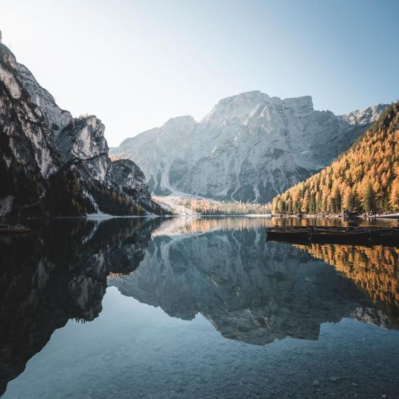 The Braies lake