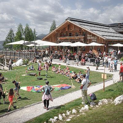 Kids party on Monte Baranci in Three Peaks Dolomites