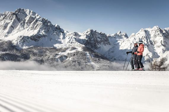Skiing in the Dolomites Paradise
