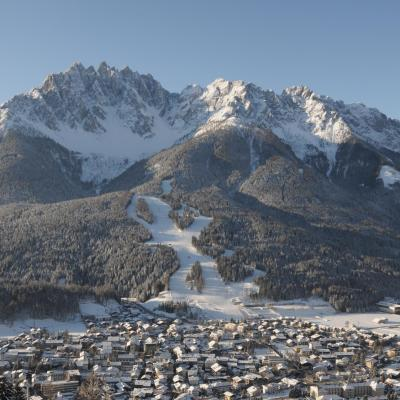 Idyllic Alpine town with wonderful skiing