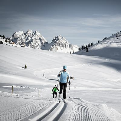 Crosscountry skiing Three Peaks Dolomites